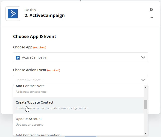 zapier action example