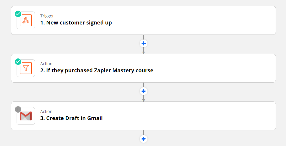create draft gmail from zapier