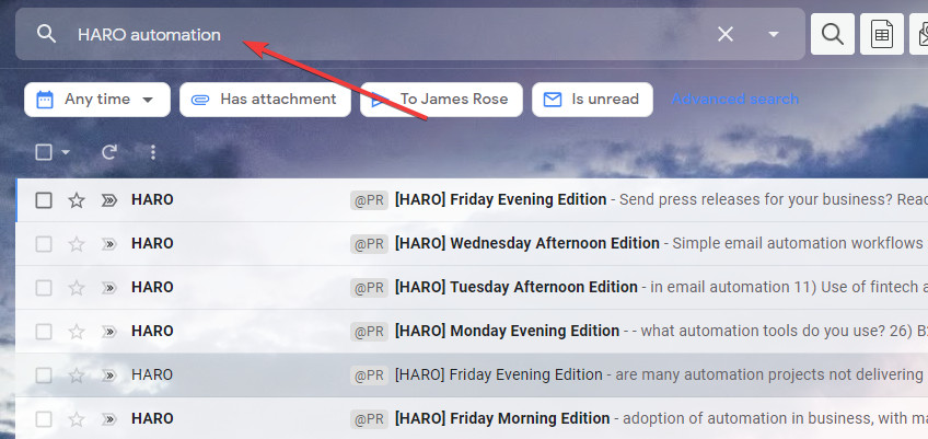 haro keyword notifications