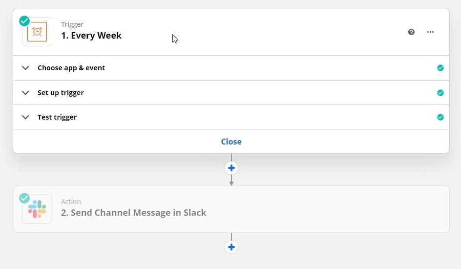 zapier slack send channel message